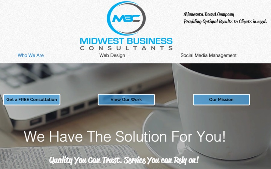 A great web design by Midwest Business Consultants, Minneapolis, MN:
