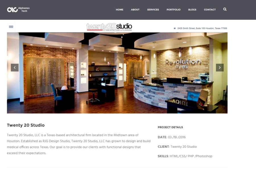 A great web design by Alphanso Tech, Rajkot, India:
