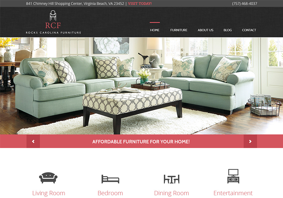 A great web design by Eternal Works, Virginia Beach, VA: