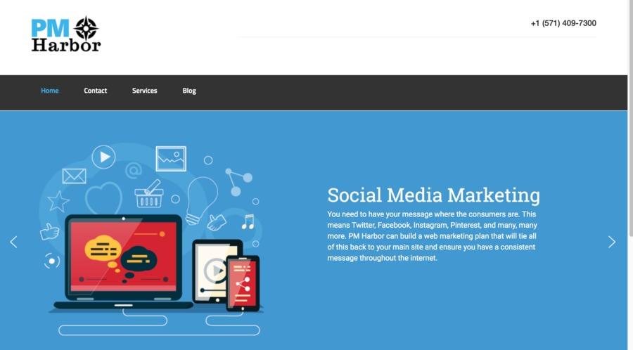 A great web design by PM Harbor, LLC, Washington, DC: