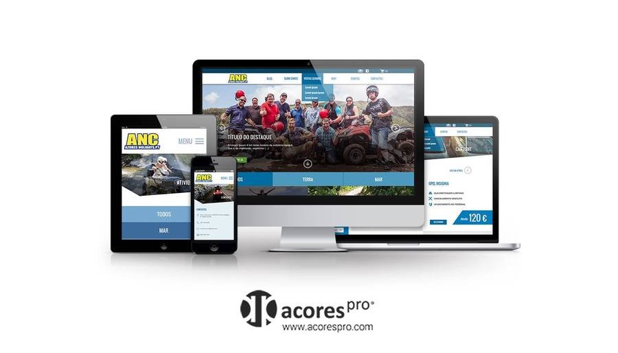 A great web design by AcoresPro - Web Design, Lisboa, Portugal: Responsive Website, E-Commerce , Travel , Wordpress