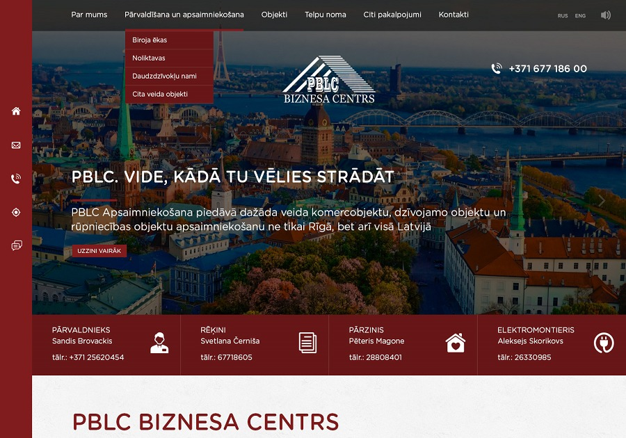A great web design by STANDOUT WEB, Riga, Latvia: Responsive Website, Other, Real Estate , Joomla