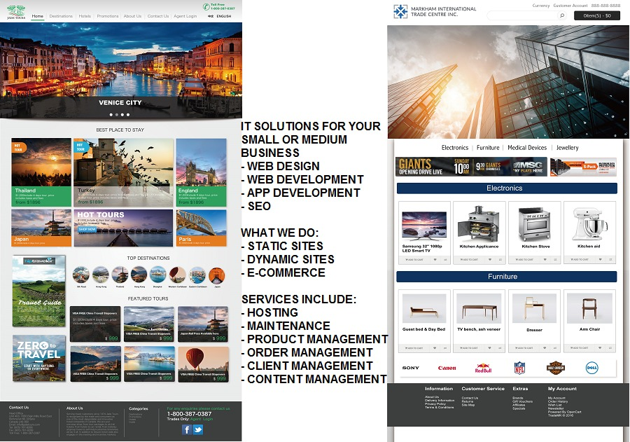 A great web design by Aurora Technology Development, Toronto, Canada: