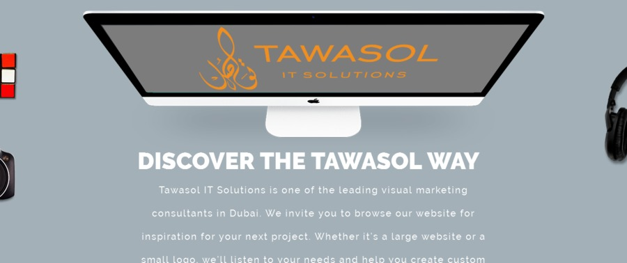 A great web design by Tawasol IT Solutions, Bengaluru, India: