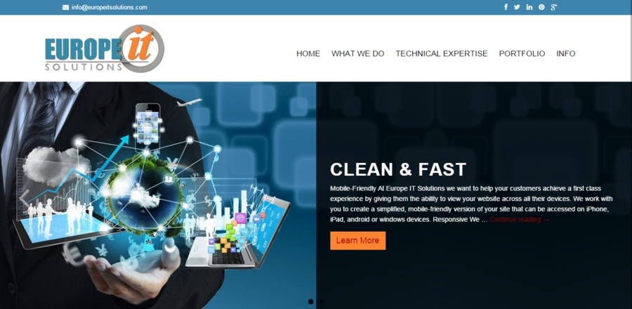 A great web design by Europe IT Solutions, Lonavla, India: