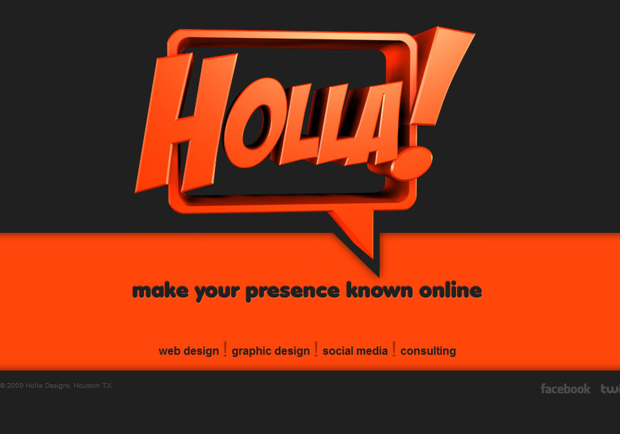 A great web design by Holla Designs, Houston, TX: