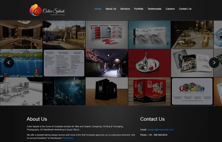 A great web design by Color Splash, Delhi, India: