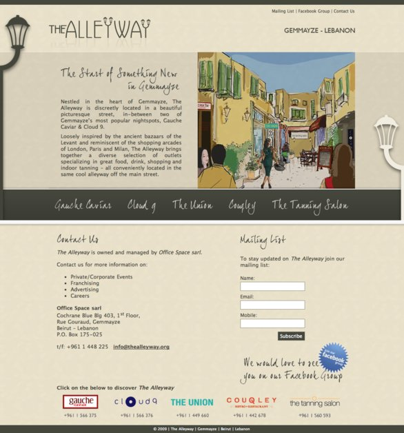 A great web design by Twain, Beirut, Lebanon: