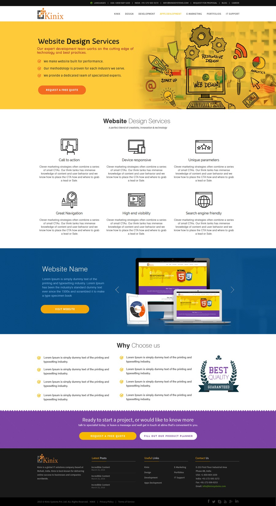A great web design by Kinix Systems Pvt. Ltd., Chandigarh, India: