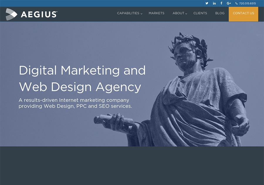 A great web design by Aegius, Denver, CO: