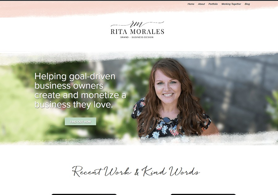 A great web design by Rita Morales, Los Angeles, CA: