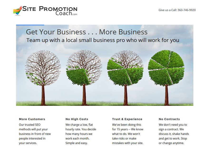 A great web design by Site Promotion Coach, Seattle, WA: