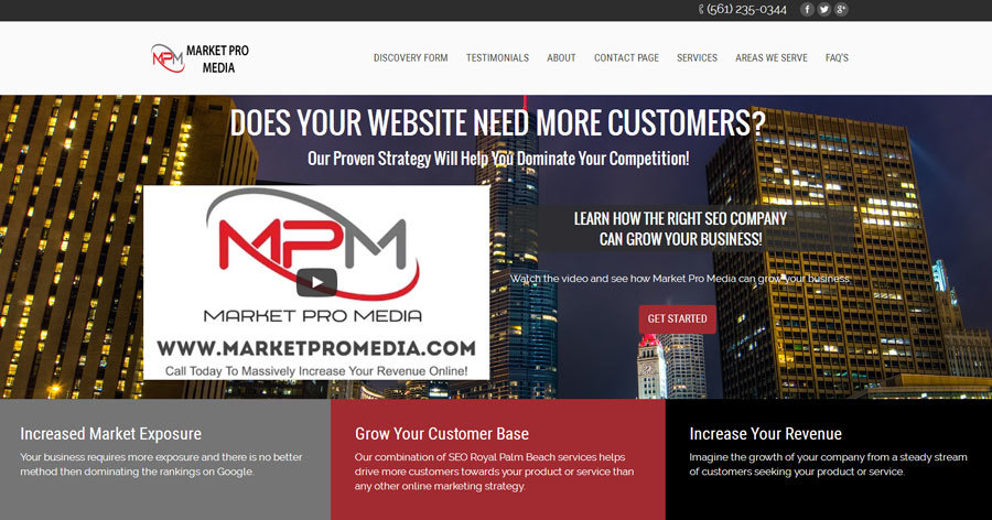 A great web design by Market Pro Media, Royal Palm Beach, FL: