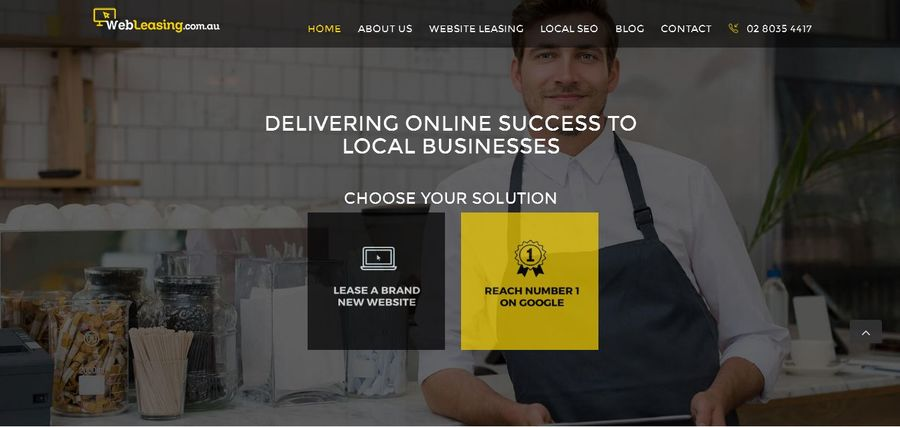 A great web design by WebLeasing, Penrith, Australia: