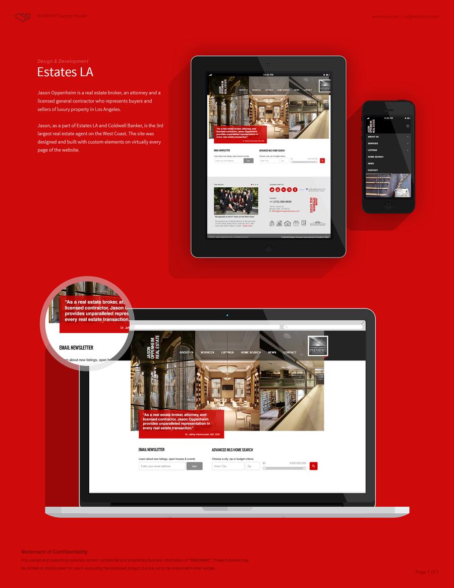 A great web design by WNDRMNT, New York City, VT: Responsive Website, Portfolio , Real Estate , Wordpress