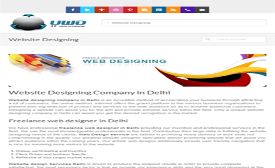 A great web design by Graphics designing company in Delhi, Delhi Paharganj, India: