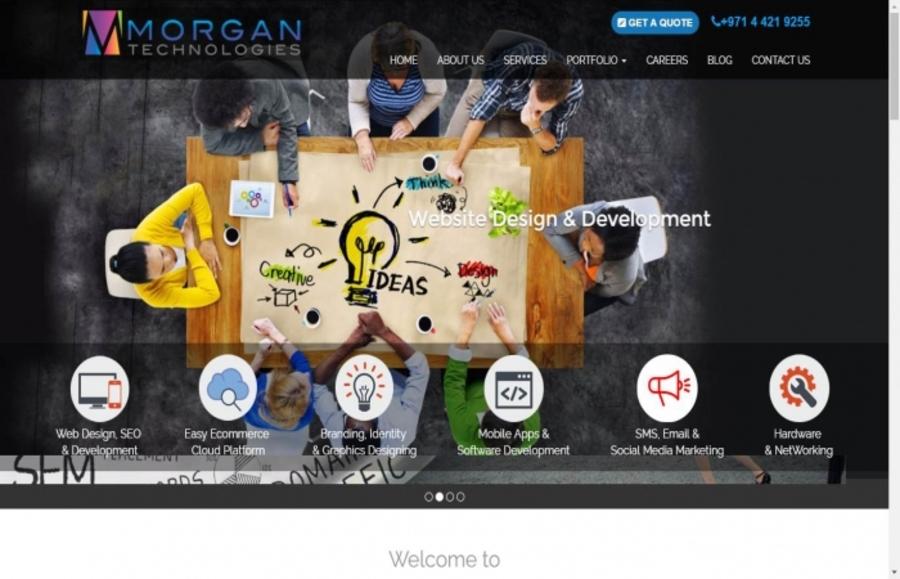 A great web design by Morgan Technologies, Dubai, United Arab Emirates: