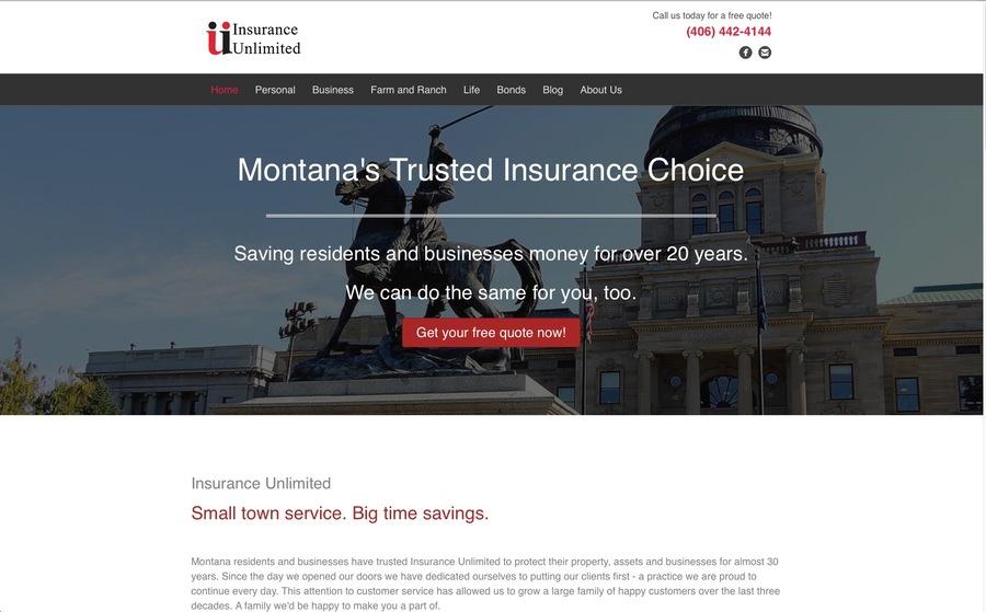 A great web design by Actify Media, Helena, MT: Responsive Website, Marketing Website , Insurance , Wordpress