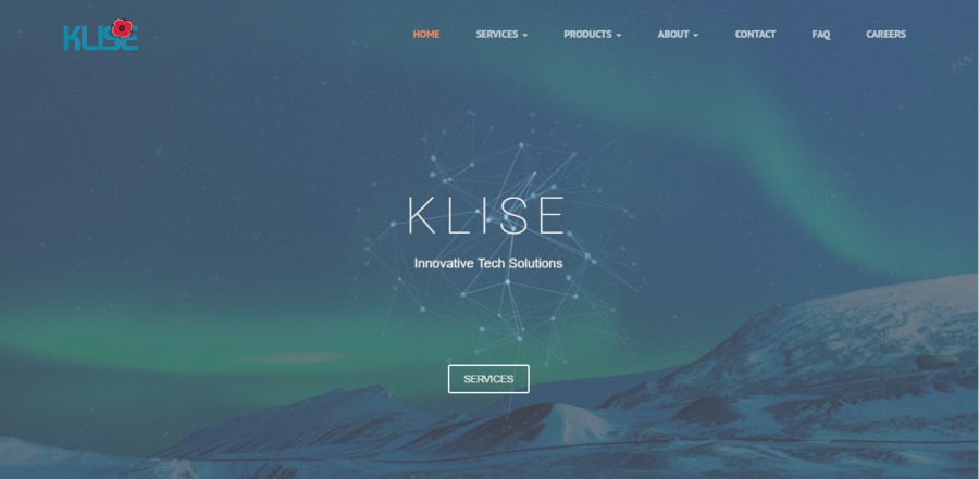 A great web design by Klise, Toronto, Canada: