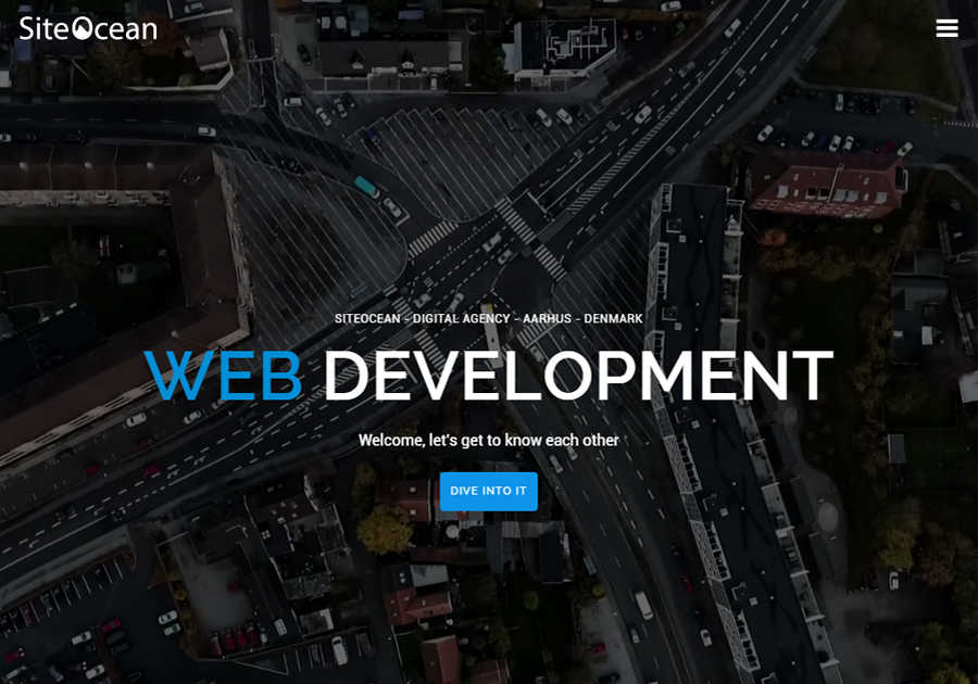 A great web design by SiteOcean, Aarhus, Denmark: