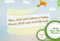 A great web design by Forced matrix software for MLM business, Mumbai, India: