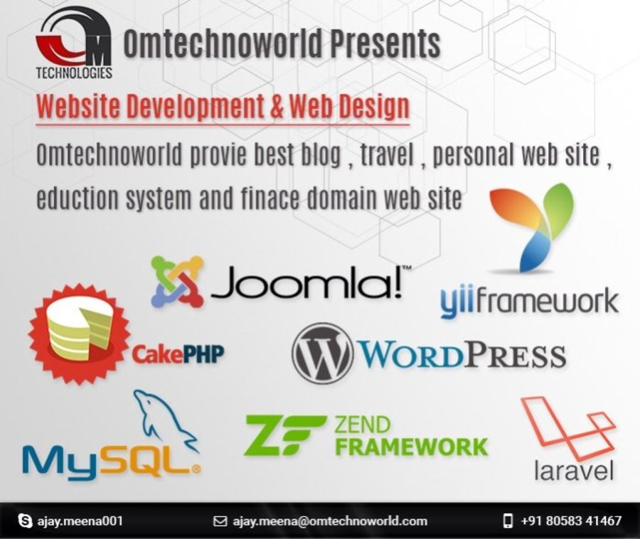 A great web design by Om Technologies, Delhi, India: