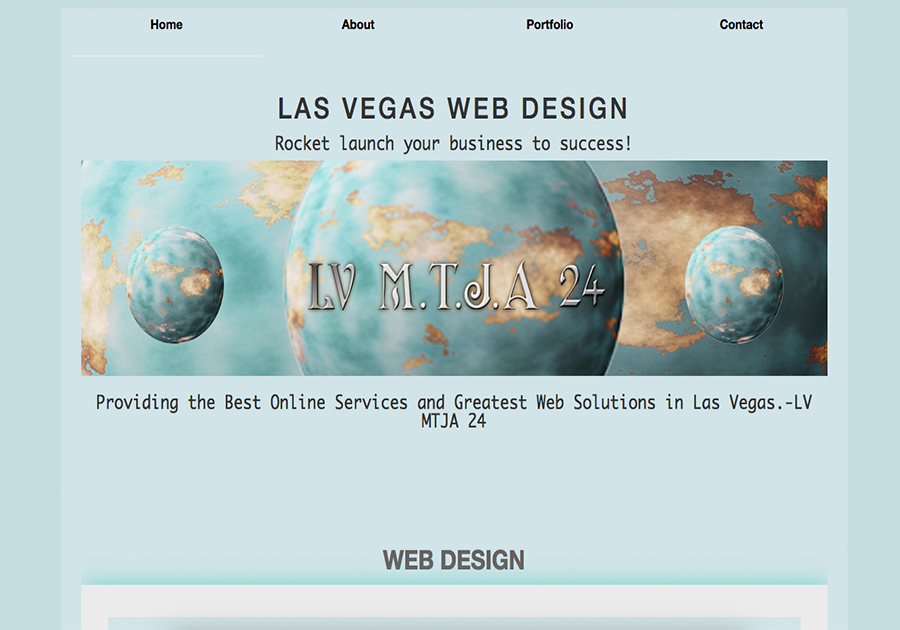 A great web design by LVMTJA24, Las Vegas, NV: