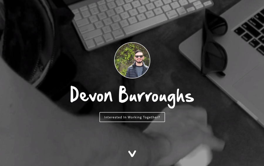 A great web design by Devon Burroughs, Cincinnati, OH: Responsive Website, Portfolio