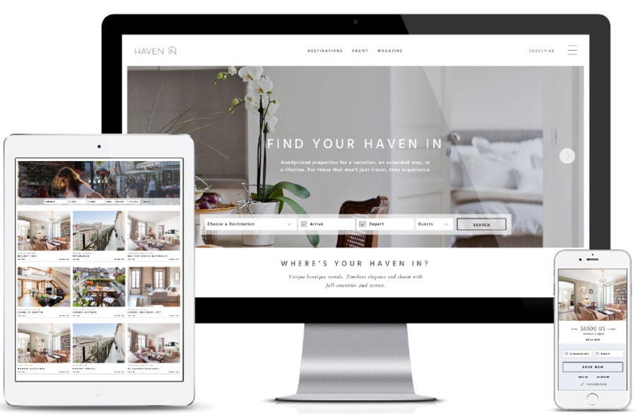 A great web design by GET THE PEOPLE, Brooklyn, NY: Responsive Website, Web Application , Travel , Design Only