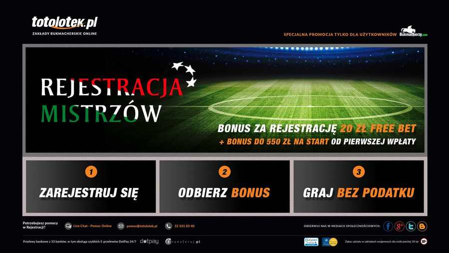 A great web design by Totolotek S.A., Warsaw, Poland: