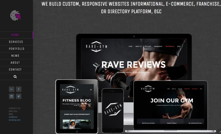 A great web design by Rare Branding, Irvine, CA: Website, Portfolio , Wordpress