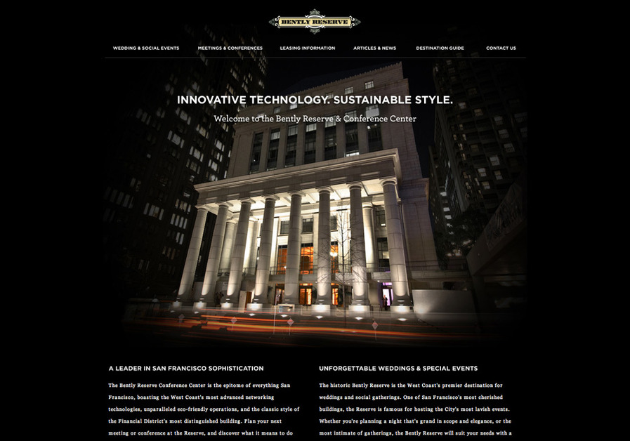 A great web design by Brady J. Frey, San Francisco, CA: