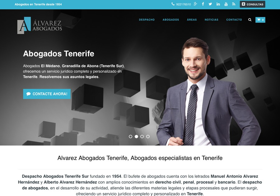 A great web design by Alvarez Abogados Tenerife, Santa Cruz De Tenerife, Spain: