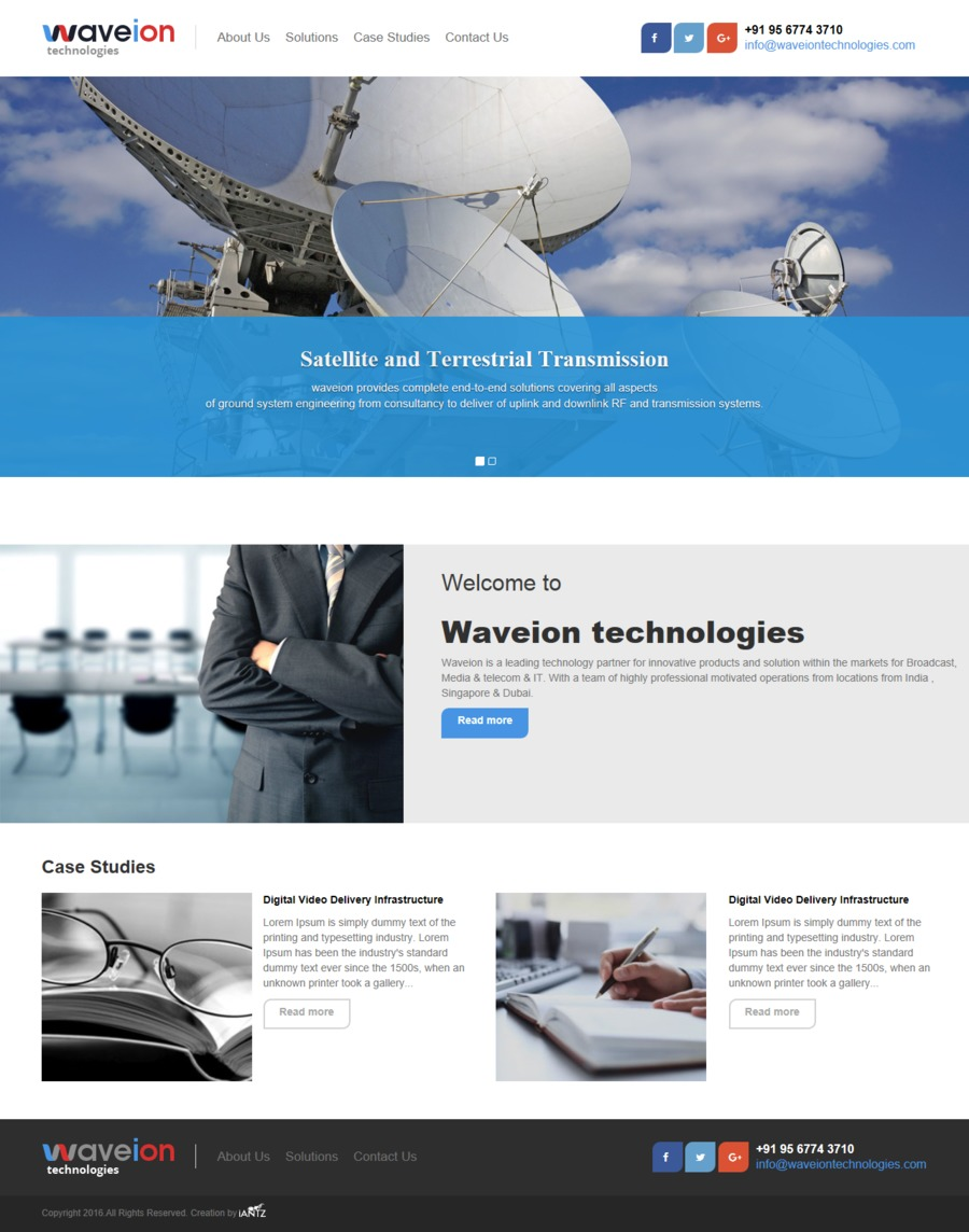 A great web design by iANTZ IT Solutions | Web Development Company in Kerala, India, Trivandrum, India: