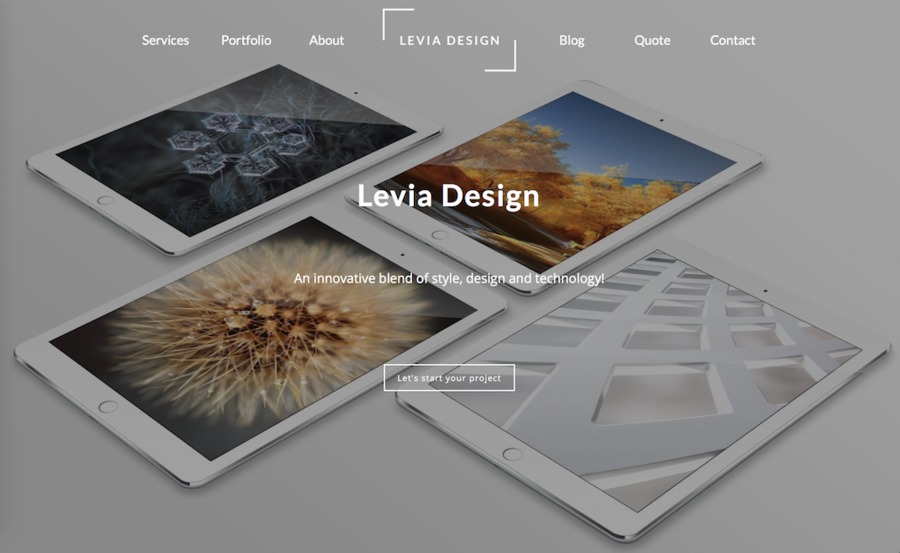 A great web design by Levia Design, Helsinki, Finland: