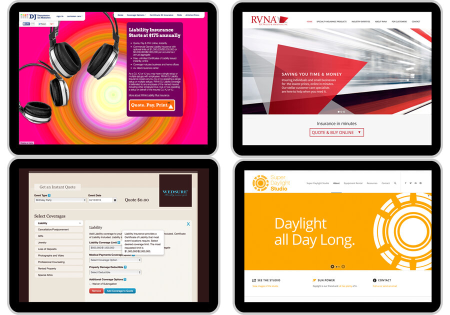 A great web design by Specto Design, Los Angeles, CA: Responsive Website, Web Application , Insurance , Other