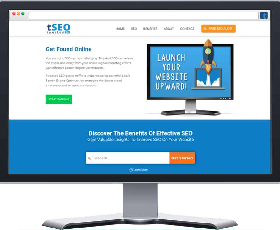 A great web design by Tweaked SEO, Toronto, Canada: