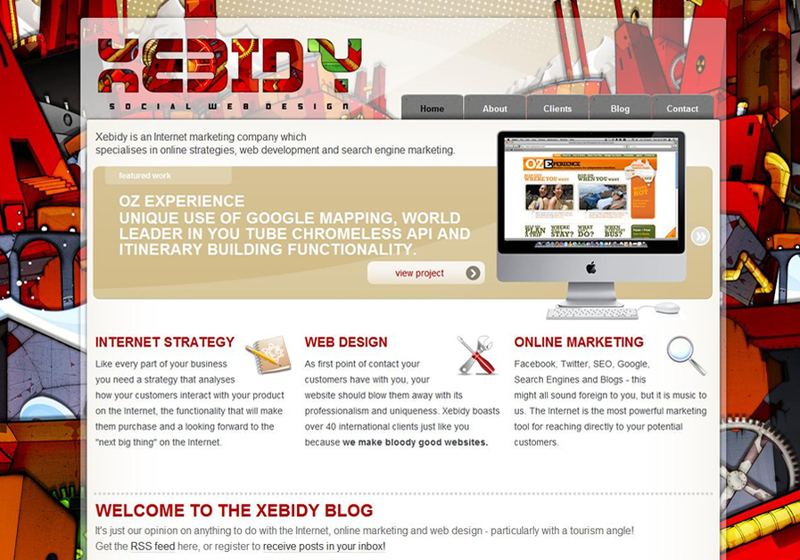 A great web design by Xebidy Social Web Design, Queenstown, New Zealand: