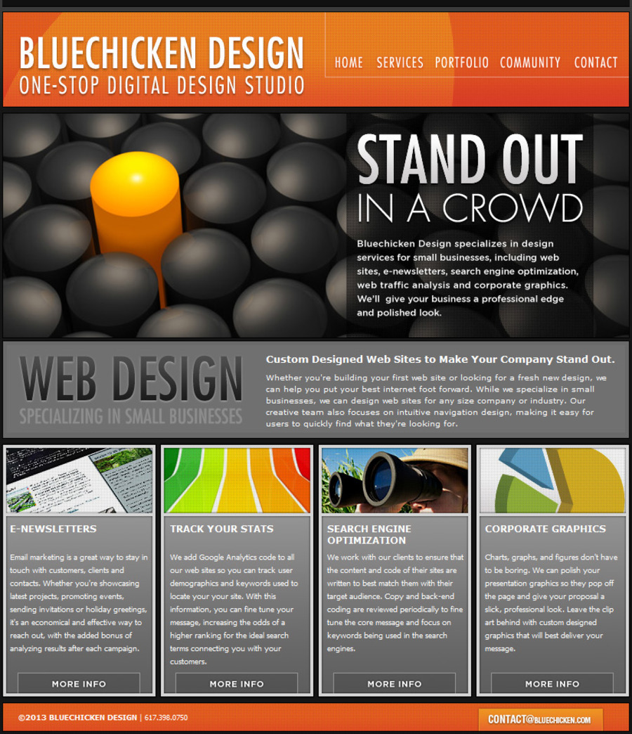 A great web design by Bluechicken Design, Boston, MA: