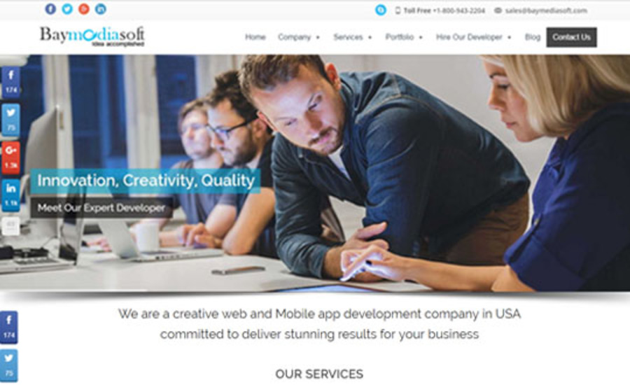 A great web design by Baymediasoft, Van Nuys, CA: