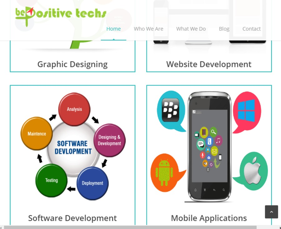 A great web design by Be Positive Techs, Delhi, India: