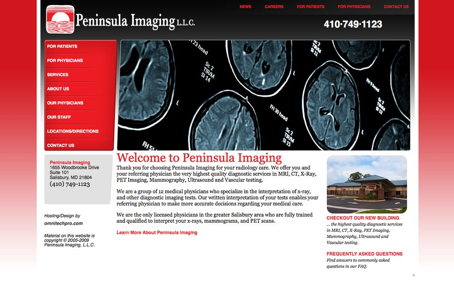 A great web design by OmniTechPro, Salisbury, MD: