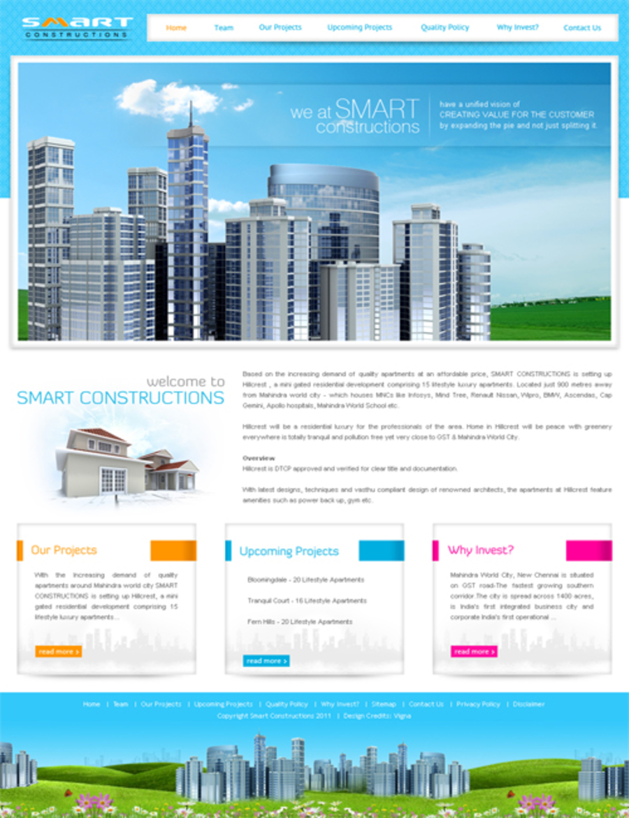 A great web design by thebloo-design studio, Chennai, India: Responsive Website, Marketing Website , Construction , PHP