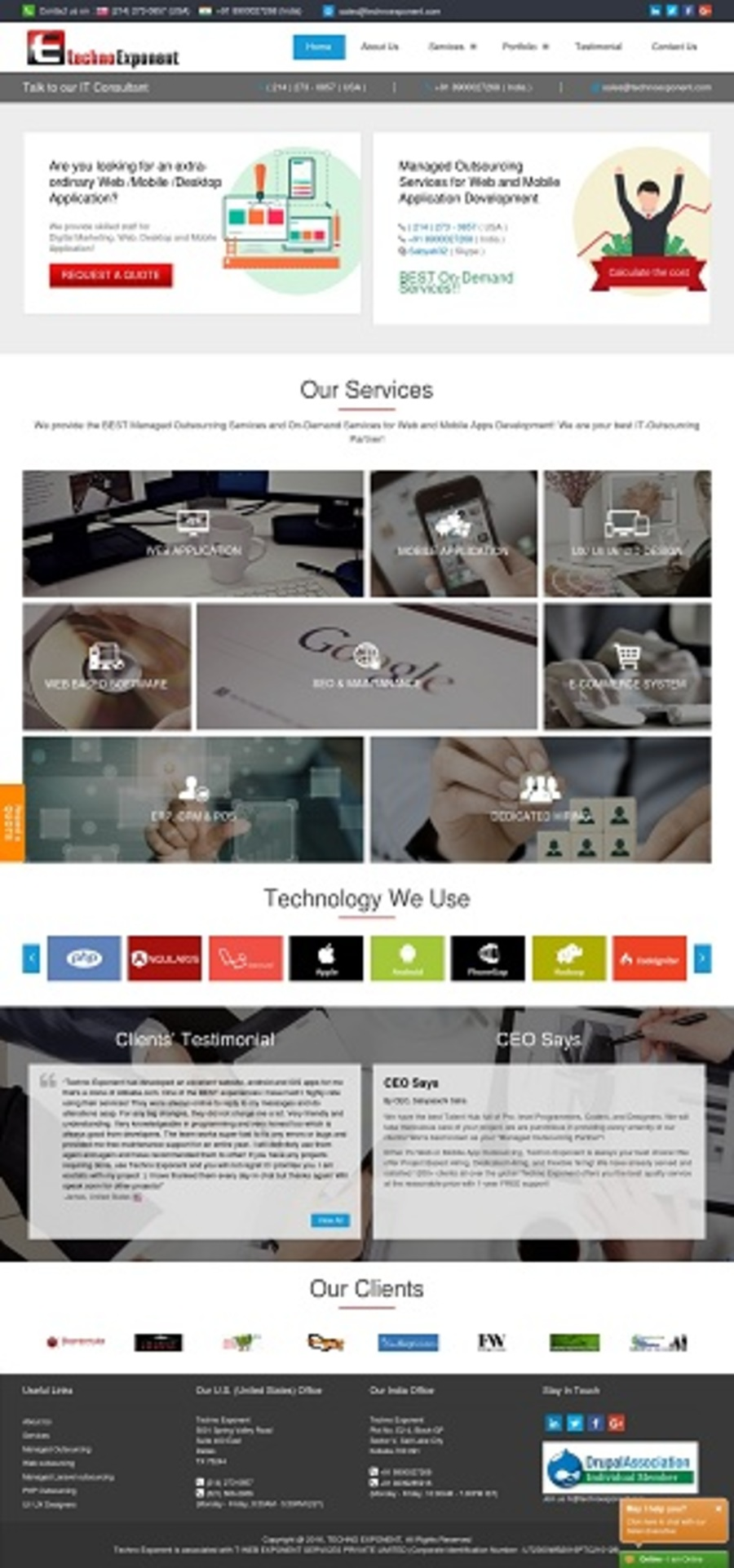 A great web design by Techno Exponent, Salt Lake City, India: Website, Web Application , Internet , PHP