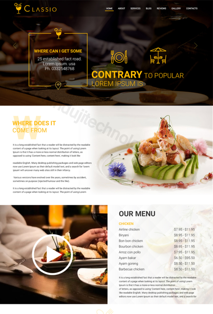 A great web design by Induji Technologies Private Limited, Kolkata, India: Responsive Website, Web Application , Restaurants & Bars, PHP