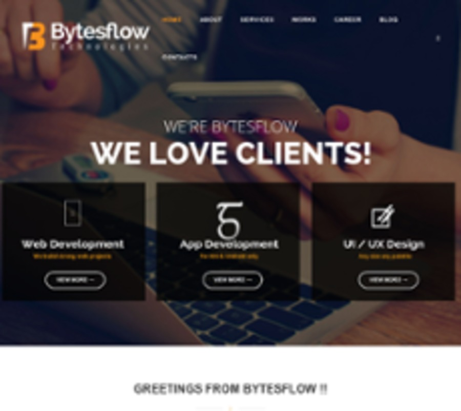 A great web design by Bytesflow Technologies, Chennai, India: