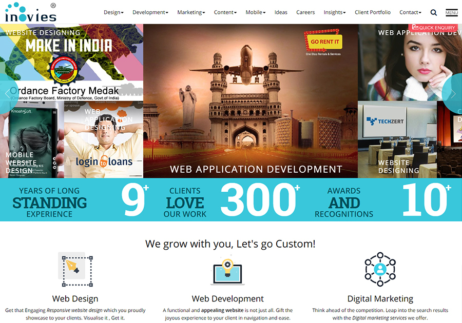 A great web design by inovies, Hyderabad, India: