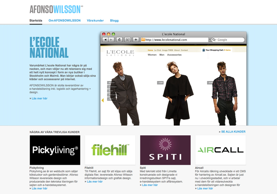 A great web design by AFONSOWILSSON, Stockholm, Sweden: