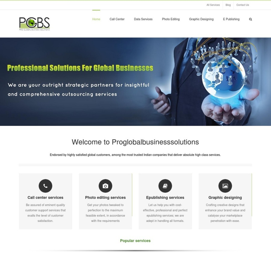A great web design by Proglobalbusinesssolutions, Bangalore, India: