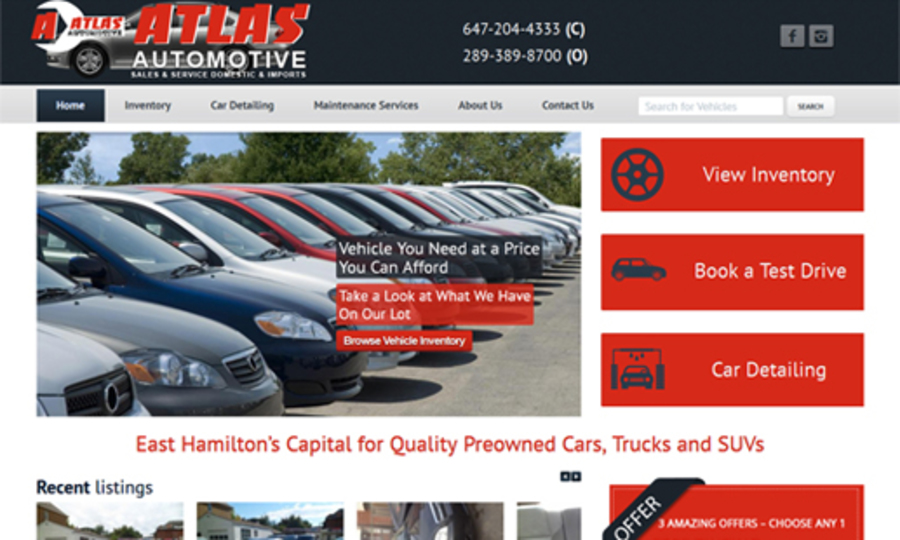 A great web design by Web Design Hamilton, Hamilton, Canada: Responsive Website, Portfolio , Automotive , Wordpress